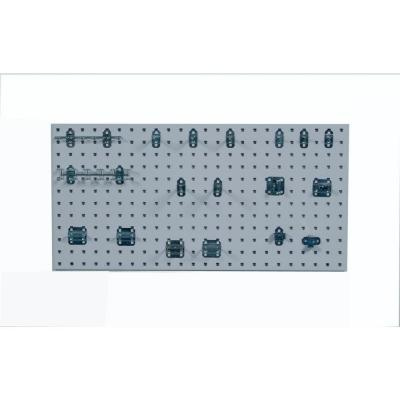 3/8 in. White Steel Square Hole Pegboards with LocHook Assortment (18-Pieces )
