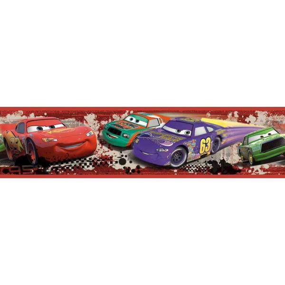 RoomMates Cars Piston Cup Racing Peel and Stick Wallpaper Border RMK1516BCS
