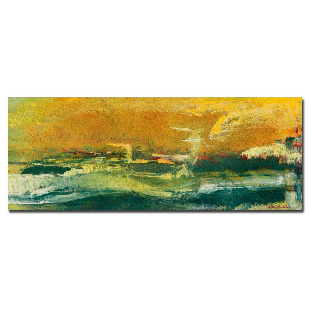 18 in. x 47 in. Green Edge Canvas Art
