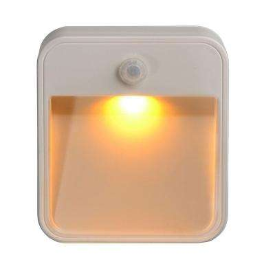 Indoor/ Outdoor Battery Powered Motion Activated Amber Sleep Friendly LED Stick Anywhere Light