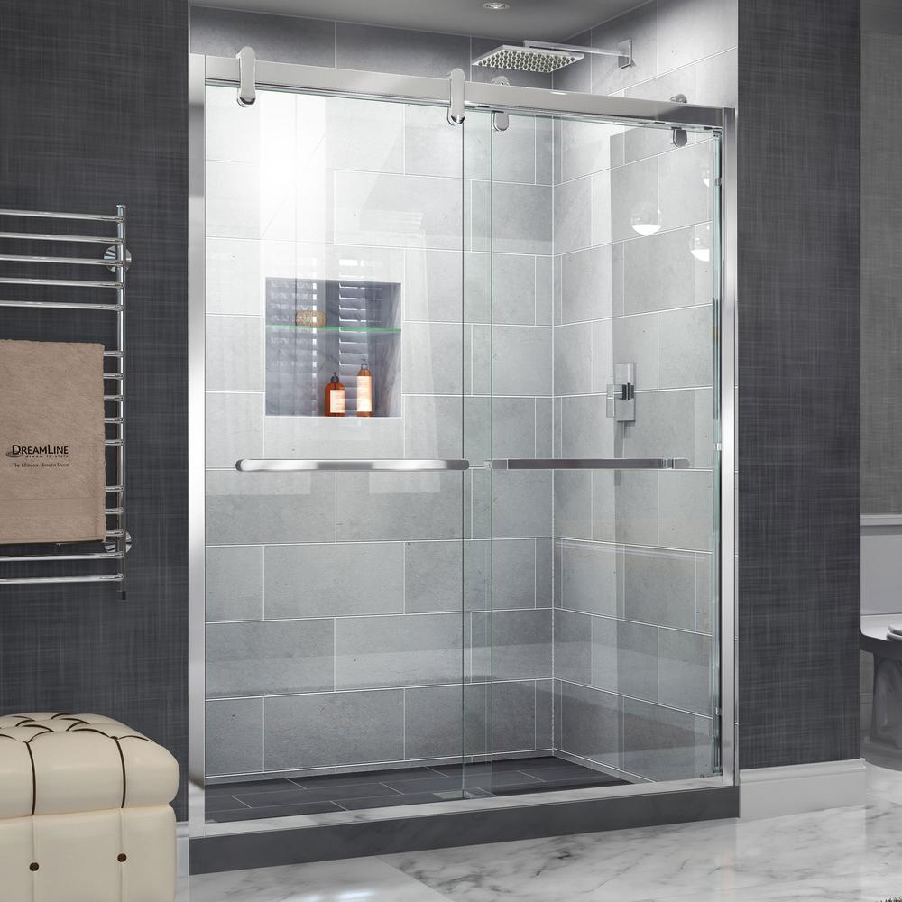 bathroom glass doors. Cavalier  DreamLine Frameless Bypass Sliding Shower Doors Showers