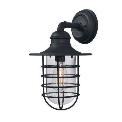 Eli 1-Light Black Outdoor Wall Mount Lantern