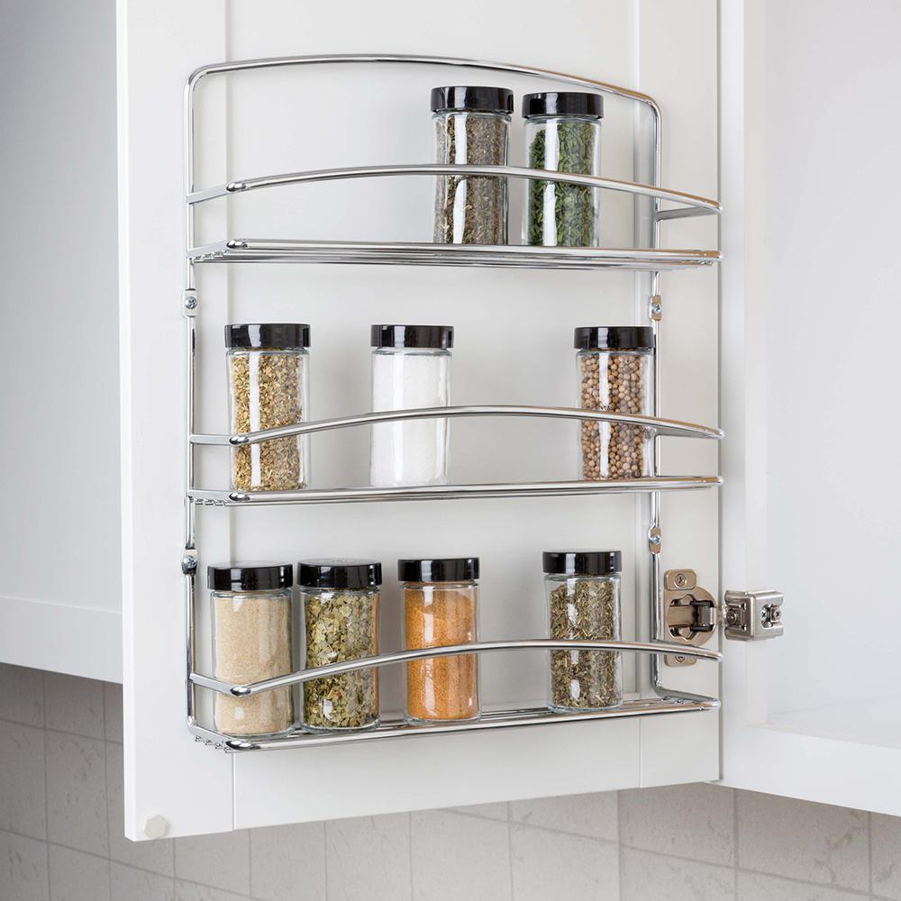 Real Solutions For Real Life 3-Tier Door Spice Rack-RS
