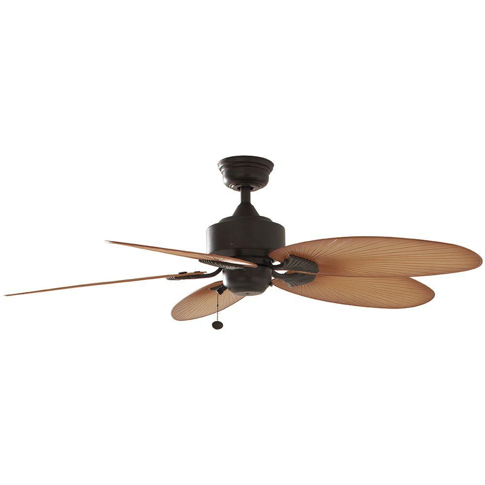 Hampton Bay Lillycrest 52 in. Indoor/Outdoor Aged Bronze Ceiling Fan