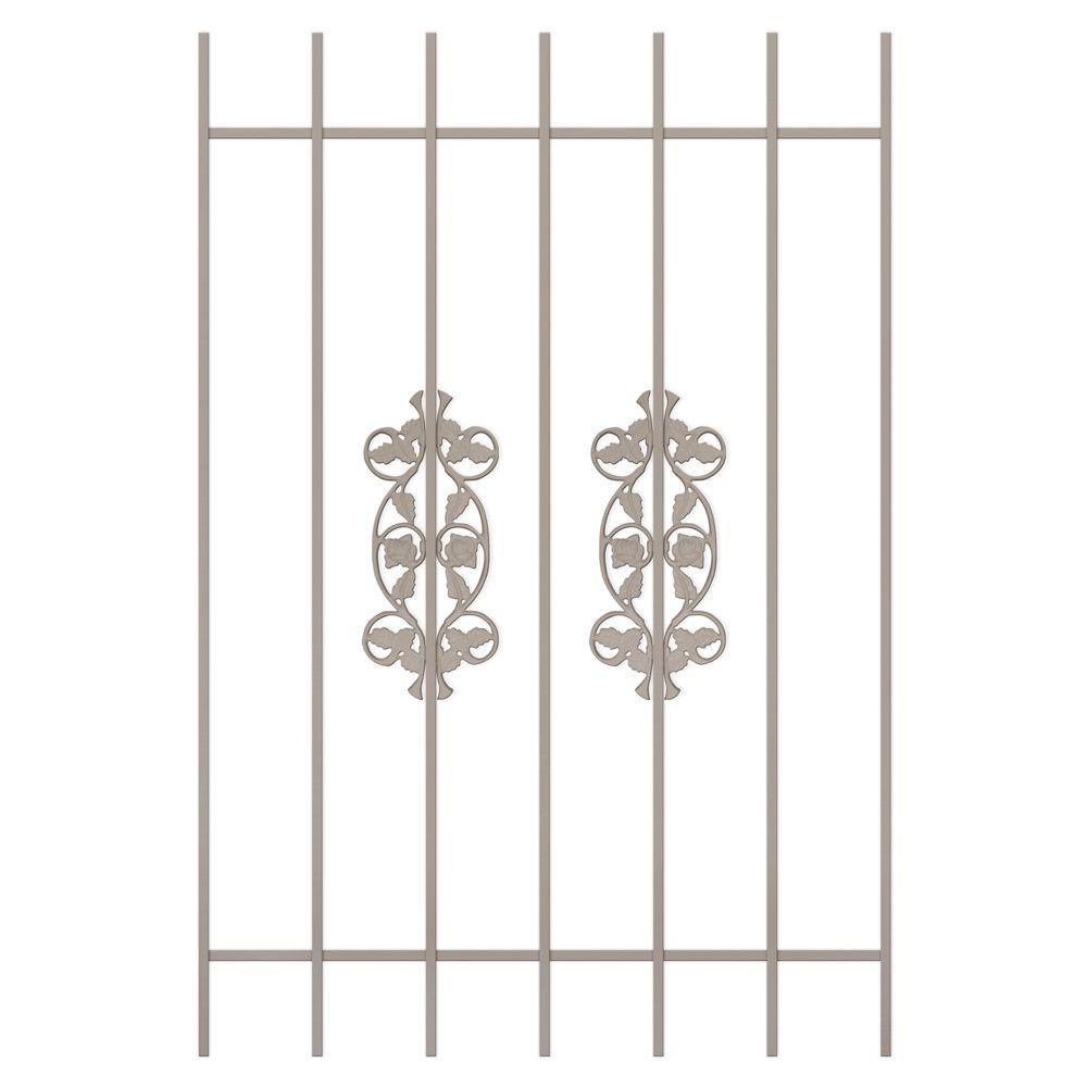 Unique Home Designs Rambling Rose 36 in. x 54 in. Tan 7-Bar Window Guard-DISCONTINUED