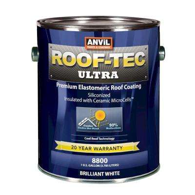 Ultra 1 Gal. Siliconized and Microcell Elastomeric White Reflective Roof Coating