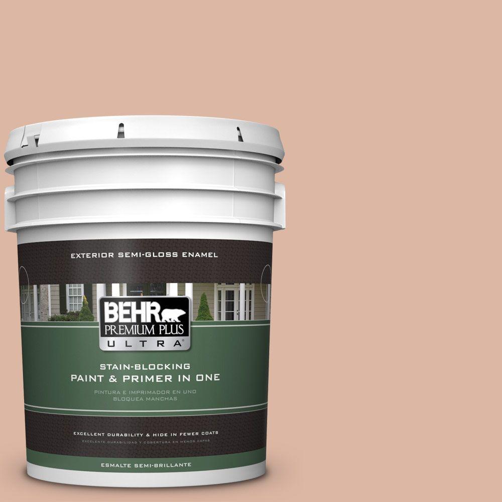 BEHR Premium Plus Ultra 5-gal. #ECC-60-1 Coral Bay Semi-Gloss Enamel Exterior Paint
