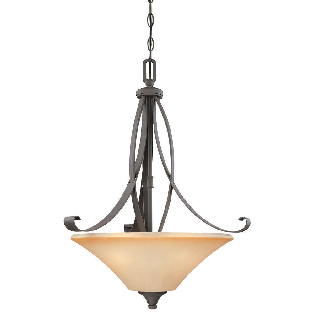 Thomas Lighting Magnolia 3-Light Painted Bronze Pendant-DISCONTINUED