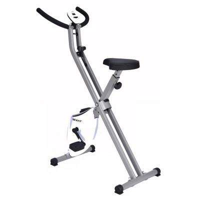 X-Magnetic Foldable Fitness/Exercise Cycling Bike in Black and White with Magnetic Resistance