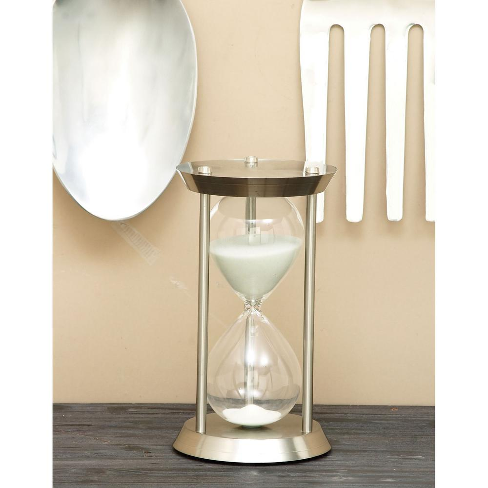 Litton Lane 60 Minute Ute Hourglass 7 In X 12 In Sand Timer 58157 - Decorative-hourglass