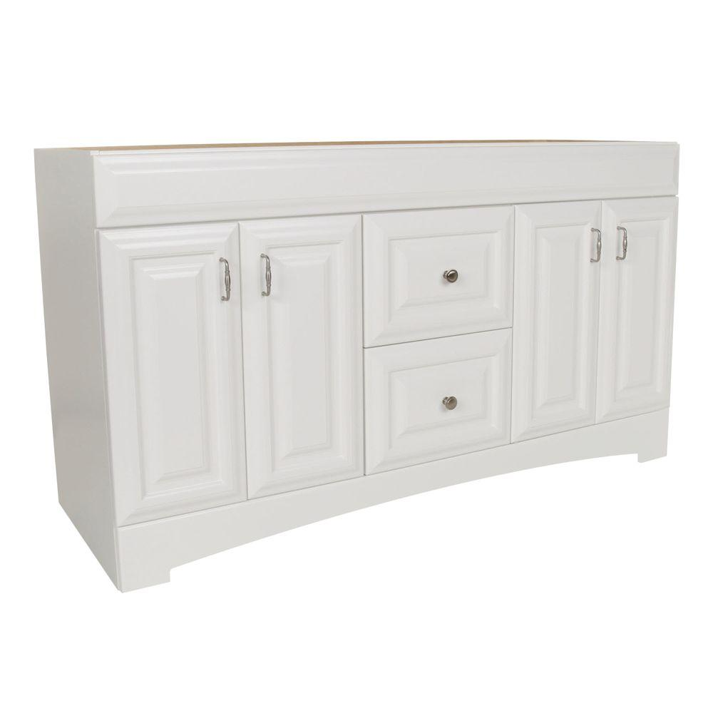 St. Paul Providence 60.125 in. W x 21.75 in. D x 34.25 in. H Vanity Cabinet Only in White