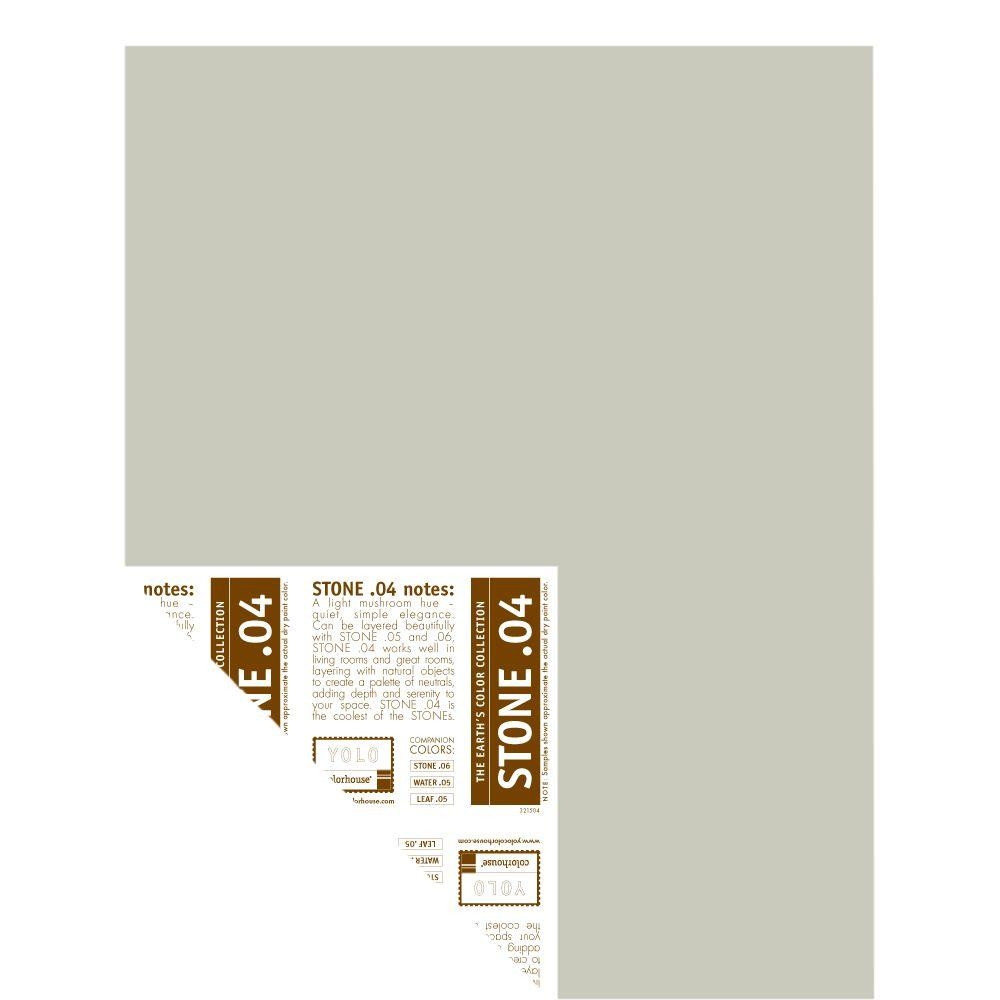 YOLO Colorhouse 12 in. x 16 in. Stone .04 Pre-Painted Big Chip Sample