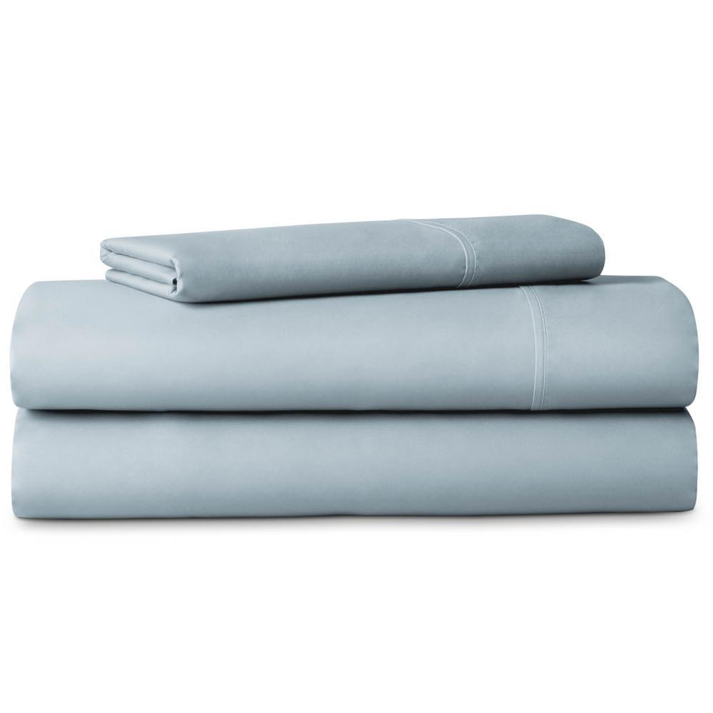 LUCID 3-Piece Brushed Microfiber Blue Twin XL Sheet Set LU90TXPAMS