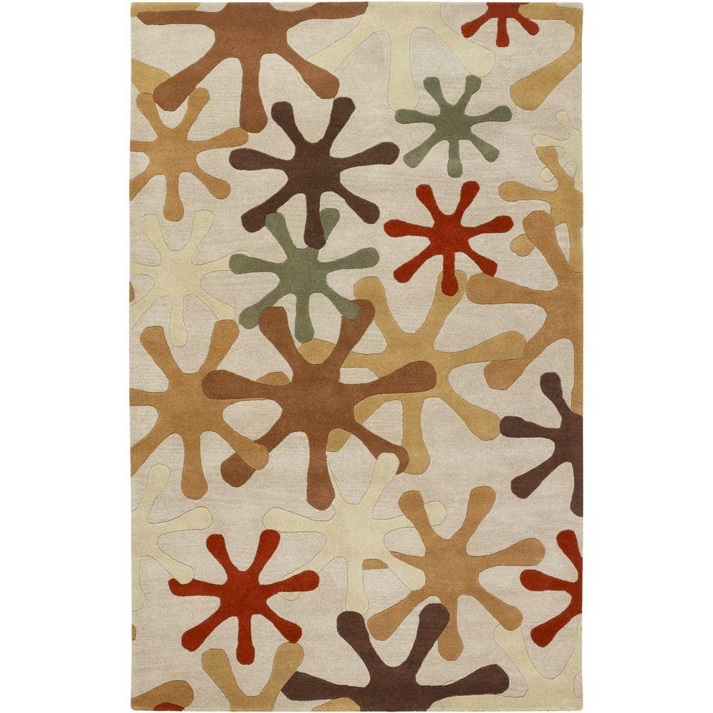 Sarah Off White 5 ft. x 8 ft. Area Rug