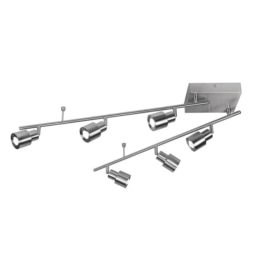 2 Ft Track Lighting Kit: AFX Chappelle 4.5 Ft. 6-Light Satin Nickel Integrated LED