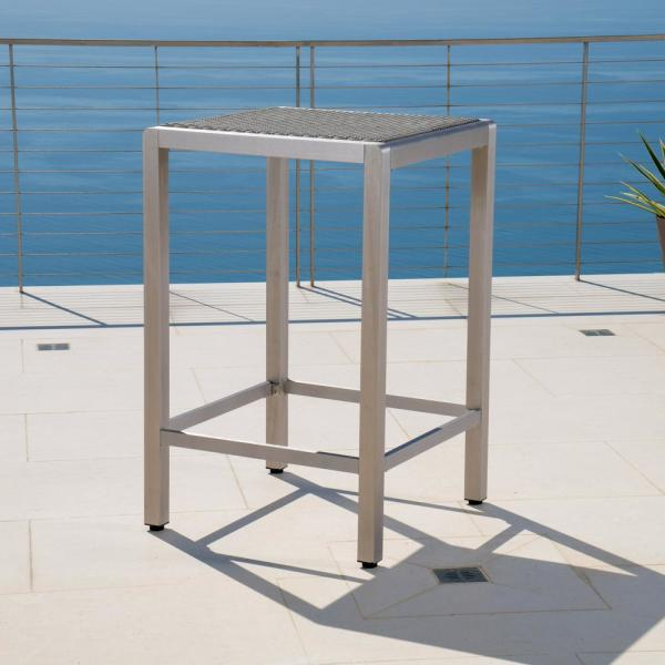 Cape Coral Grey Square Wicker Outdoor Dining Table