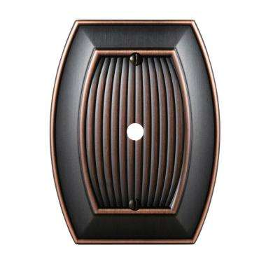 Sea Grass 1-Cable Wall Plate, Oil-Rubbed Bronze