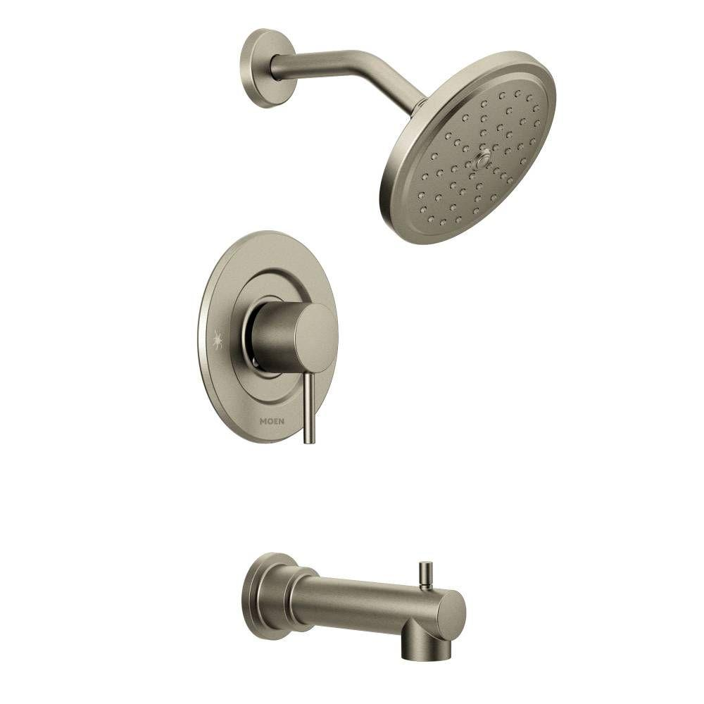 Align 1-Handle Moentrol Tub and Shower Faucet Trim Kit in Brushed