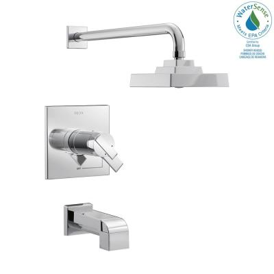 Ara TempAssure 17T Series 1-Handle Tub and Shower Faucet Trim Kit in Chrome (Valve Not Included)