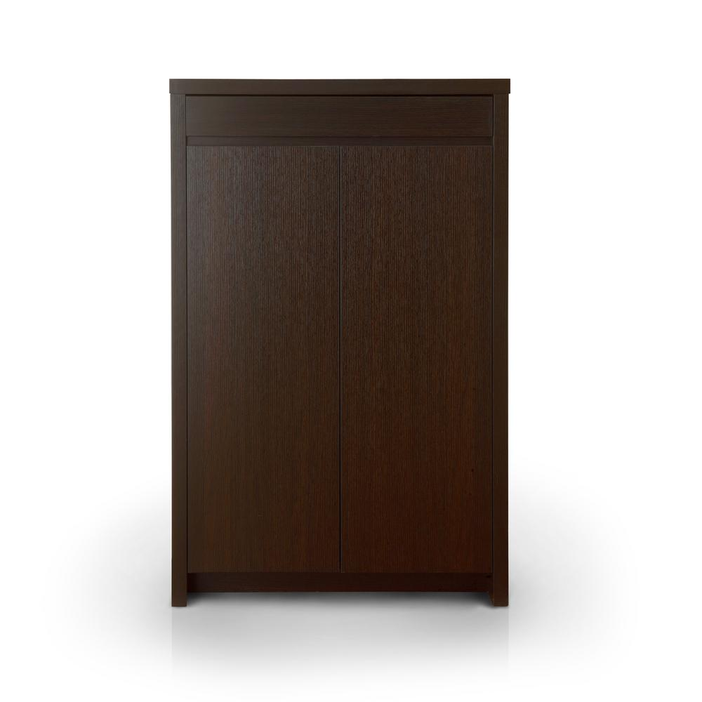 Furniture of america reyel red cocoa shoe cabinet 10340 for Furniture of america furniture
