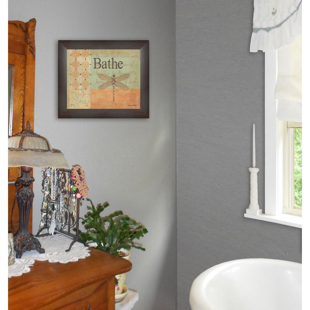 "13 in. x 11 in. ""Bathe"" by Becca Barton Printed Framed Wall Art"