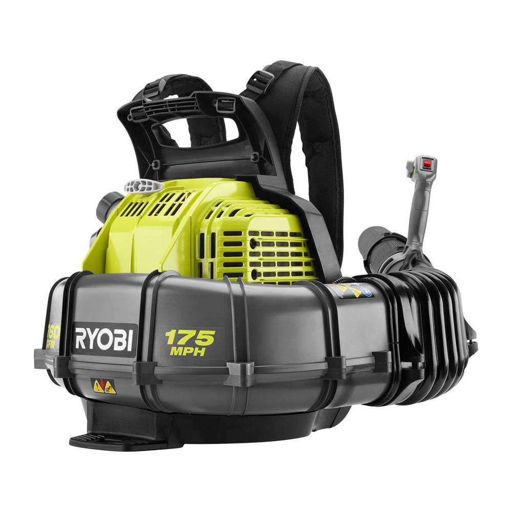 Ryobi 175 Mph 760 Cfm 38cc Gas Backpack Leaf Blower Ry38bp The Home Depot