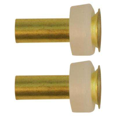 1/4 in. Compression Sleeves and Brass Inserts (2-Pack)