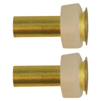 1/4 in. Compression Sleeves and Brass Insert Fittings (2-Pack)