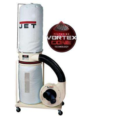 2 HP 1200 CFM 4 or 6 in. Dust Collector with Vortex Cone and 30-Micron Canister Kit, 230-Volt, DC-1200VX-BK1