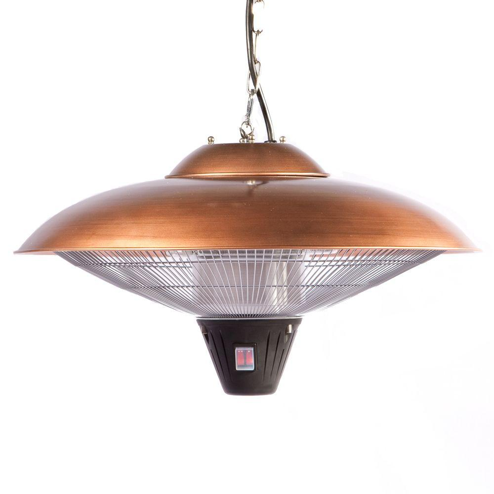 Fire Sense 1,500-Watt Copper Hanging Halogen Electric Patio Heater