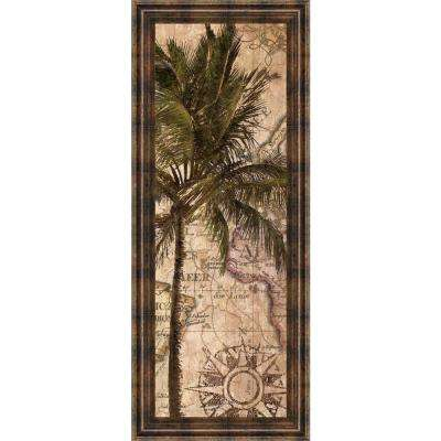 "18 in. x 42 in. ""Exotic Desination I"" by Katrina Craven Framed Printed Wall Art"