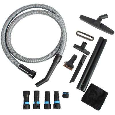 10 ft. Vacuum Hose with Expanded Multi-Brand Power Tool Dust Collection Adapter Set and Attachment Kit for Wet/Dry Vacs