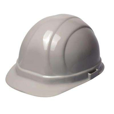 Omega II 6 Point Nylon Suspension Slide-Lock Cap Hard Hat in Gray