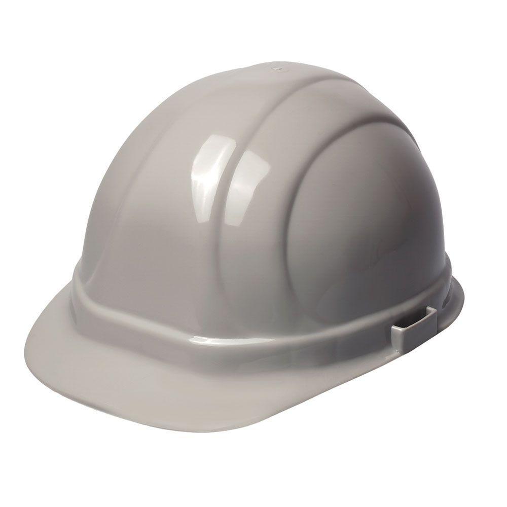 Omega II 6 Point Suspension Nylon Mega Ratchet Cap Hard Hat in Gray
