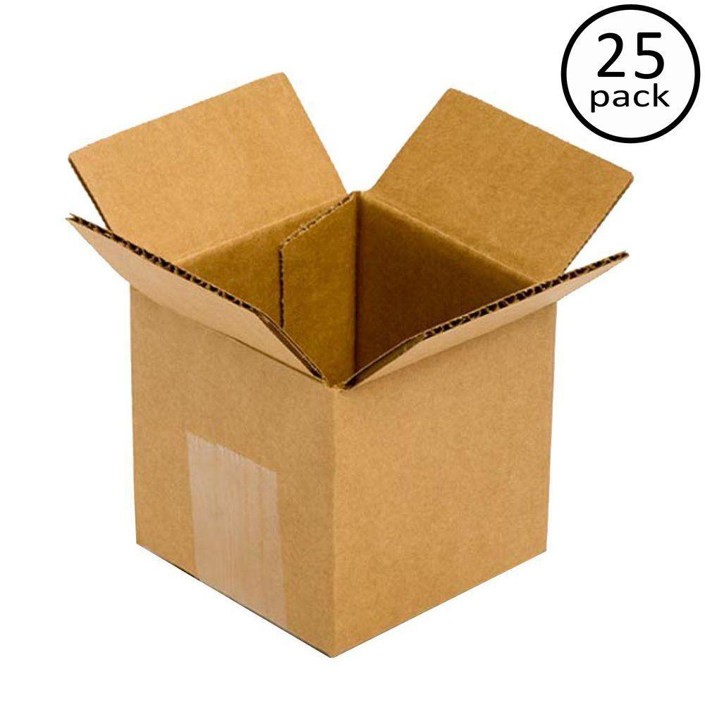 25 Moving Box Bundle (4 in. L x 4 in. W x 4 in. D)