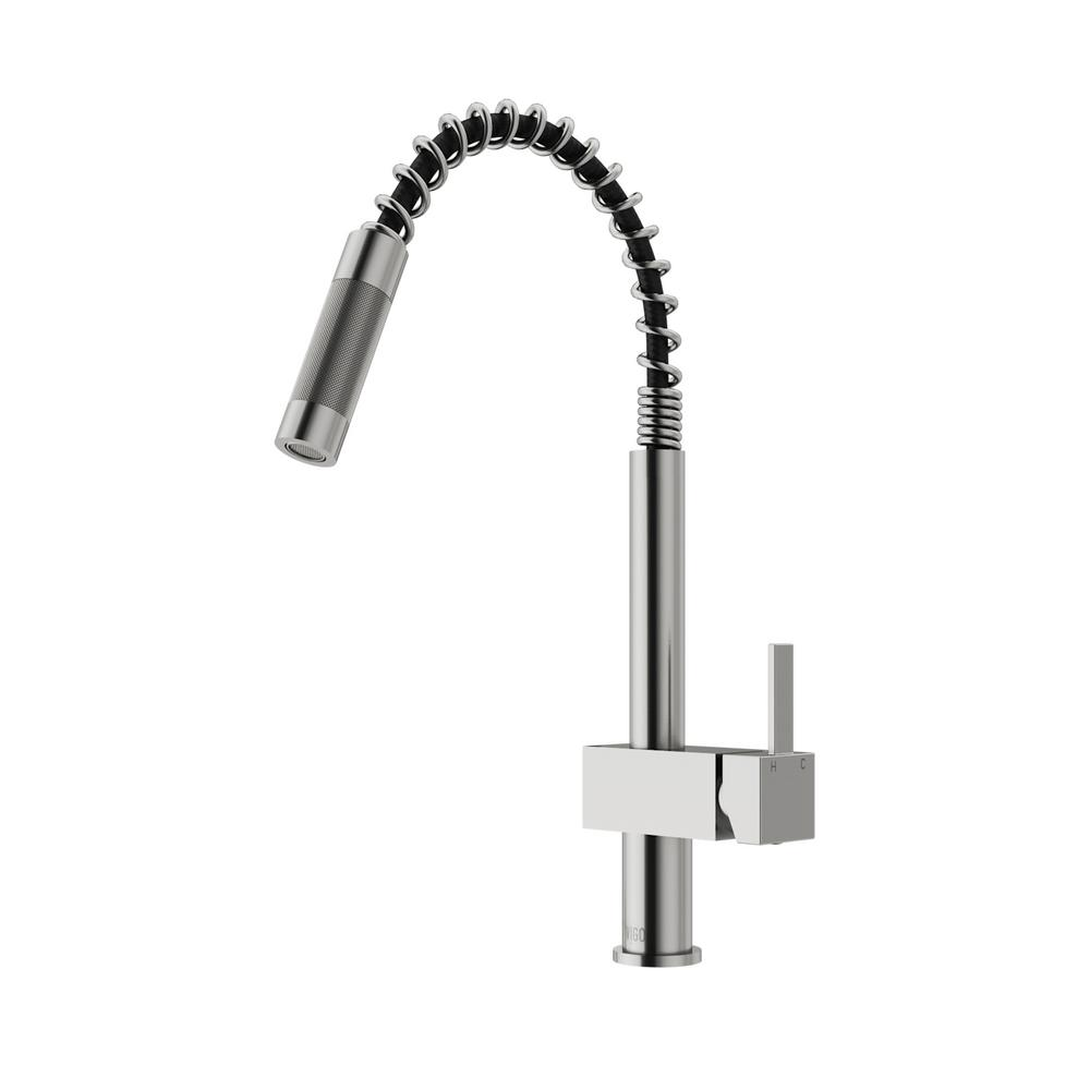 kitchen faucet with pull out sprayer vigo single handle pull out sprayer kitchen faucet in 27067