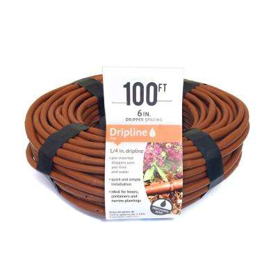 1/4 in. Emitter Tubing 100 ft. W/6 in. Spacing in Brown