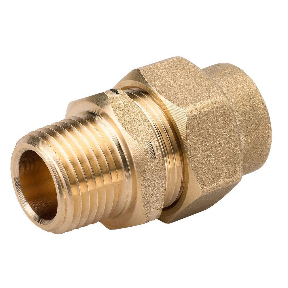 null 1/2 in. Brass CSST x MIPT Male Adapter
