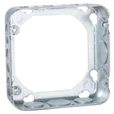 4-11/16 in. Square Drawn Extension Ring, 1-1/2 in. Deep with 1/2 in. and 3/4 in. KO's (25-Pack)