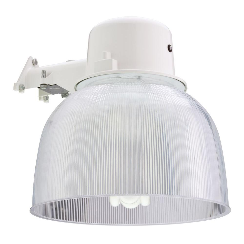 Lithonia Lighting Wall Mount Outdoor White Fluorescent Area Light Oals12a 65f 120 P Lp Wh M2