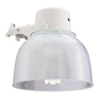 Wall-Mount Outdoor White Fluorescent Area Light