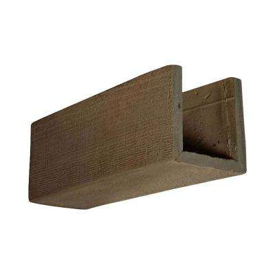 6 in. x 6 in. x 12 in. 3 Sided (U-Beam) Rough Sawn Honey Dew Endurathane Faux Wood Ceiling Beam Premium Sample