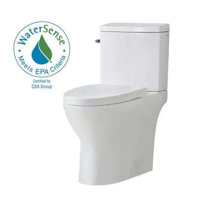 Caspian 2-Piece 1.1/1.6 GPF Dual Flush Elongated Toilet in White, Seat Included