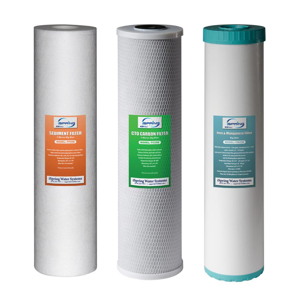 3-Stage 20 in. Whole House 3-Piece Replacement Filter Pack - Fits