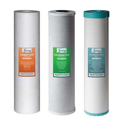 3-Stage 20 in. Whole House 3-Piece Replacement Filter Pack - Fits WGB32BM