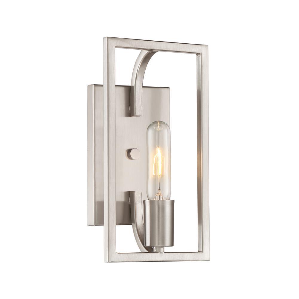 Uptown 1-Light Satin Platinum Wall Sconce