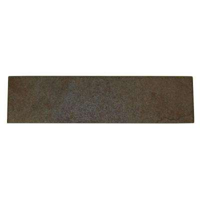 Continental Slate Brazilian Green 3 in. x 12 in. Porcelain Bullnose Floor and Wall Tile