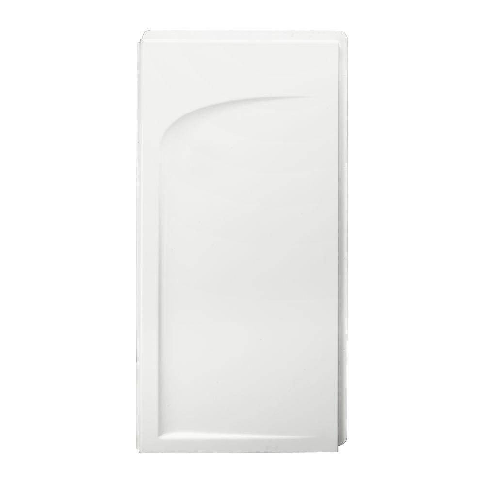 STERLING Ensemble 1-1/4 in. x 33-1/4 in. x 55-1/4 in. 1-piece Direct-to-Stud Left Shower End Wall in White