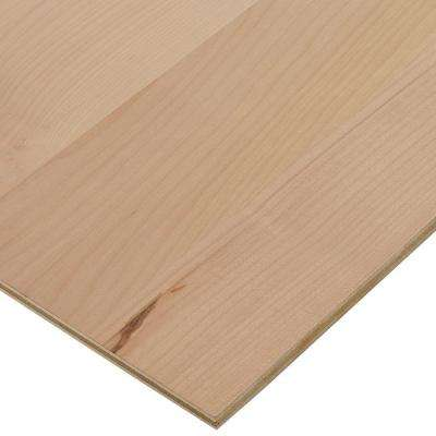 1/2 in. x 2 ft. x 4 ft. PureBond Alder Plywood (Free Custom Cut Available)