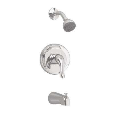 Colony Soft 1-Handle Tub and Shower Faucet Trim Kit in Brushed Nickel (Valve Sold Separately)